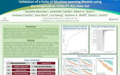 Poster: Validation of a Suite of Machine Learning Models using the Longitudinal VITALITY-ALS Data Set
