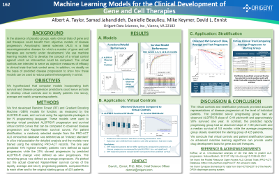 Poster 162: Machine Learning Models for the Clinical Development of Gene and Cell Therapies