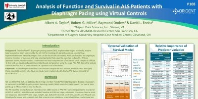 Poster: Analysis of Function and Survival in ALS Patients with Diaphragm Pacing using Virtual Controls